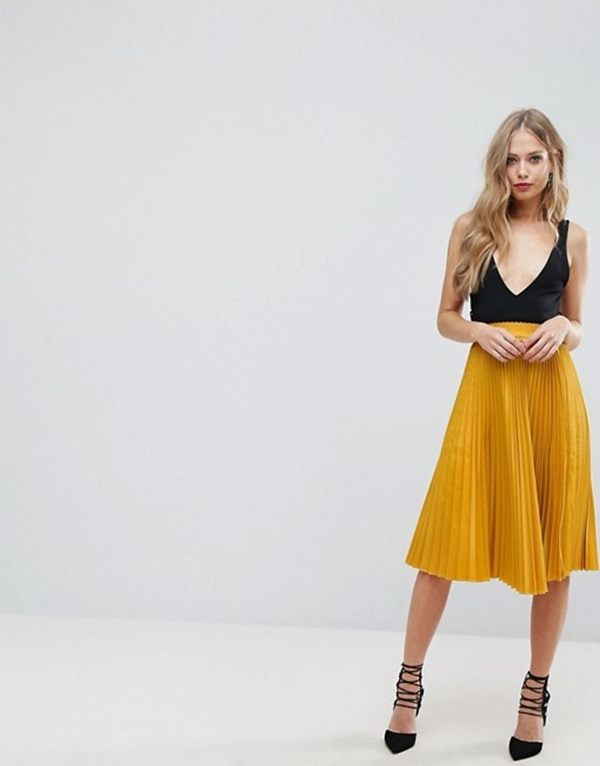 Outrageous Fortune Full Pleated Midi Skirt